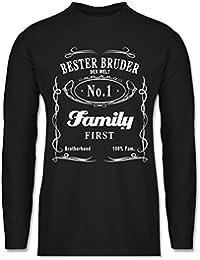 Bruder & Onkel - Bester Bruder Lettering - Longsleeve / langärmeliges T-Shirt für Herren