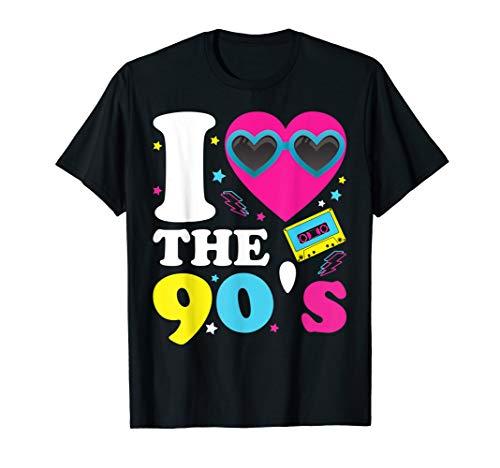 90er Jahre Für Party Kostüm Jungs - I love the 90er's T-Shirt Retro 90er Jahre Kostüm Party
