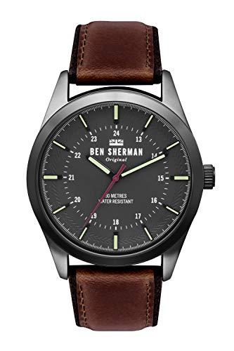 Ben Sherman Hommes Analogique Quartz Montre avec Bracelet en Cuir WB027TB