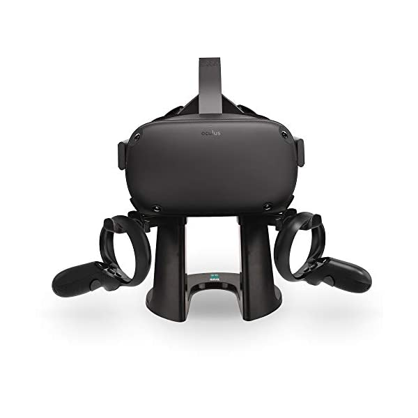 AMVR VR Stand, Headset Display Holder and Controller Mount Station for Oculus Rift S/Oculus Quest Headset and Touch Controller 41MoDCwTCTL