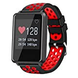 YSCYLY Fitness Tracker Smart Watch Sports Waterproof Heart Rate Monitor Pedometer Sleep Monitor LED Color Screen Smart Wristband,Red