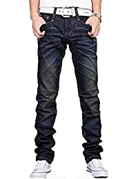 Newfacelook Hommes Jeans Mode Denim Men Pantalon Blue F002