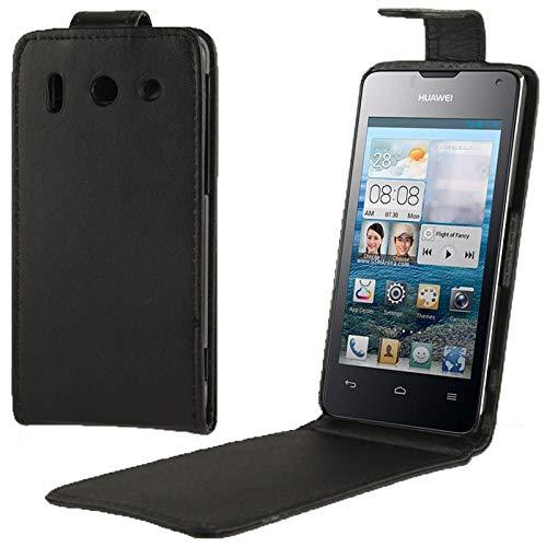 YANSHANG Schutzhülle für das Telefon Vertical Flip Leder Tasche for Huawei G510 (Schwarz) (Huawei Telefon G510)