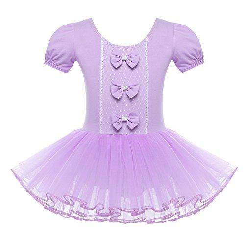 ettanzug Ballettkleid Ballett Trikot Turnanzug Mädchen Kleider Prinzessin Kostüm Gr. 98 104 116 128 140 152 Lavendel 116 (Mädchen Lavendel Prinzessin Kostüme)