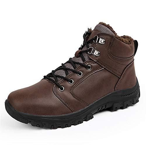 Qianliuk Männer Winterschuhe Mode Warme Lederstiefel Männer Schneeschuhe Männer Ankle Schuhe Arbeitsstiefel für Männer