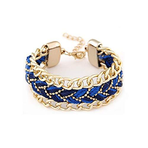ICHQ Armband, Mode Weben Bracelet Hängenden Bangle Schmuck für Freunde,Liebhaber Geburtstag Geschenk,20 x 2.6 cm (A)