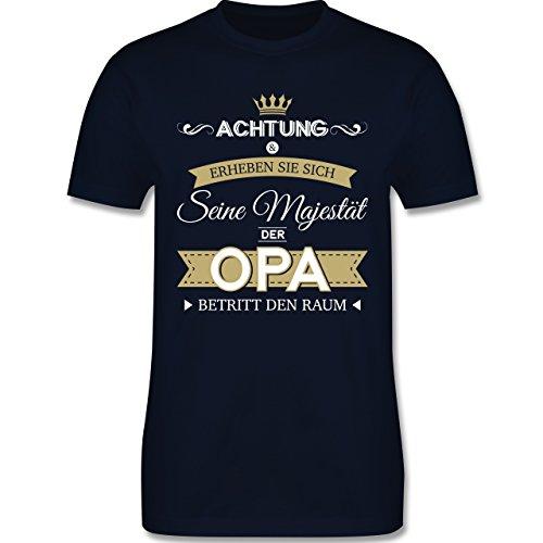 Opa - Seine Majestät der Opa - XL - Navy Blau - L190 - Herren T-Shirt Rundhals