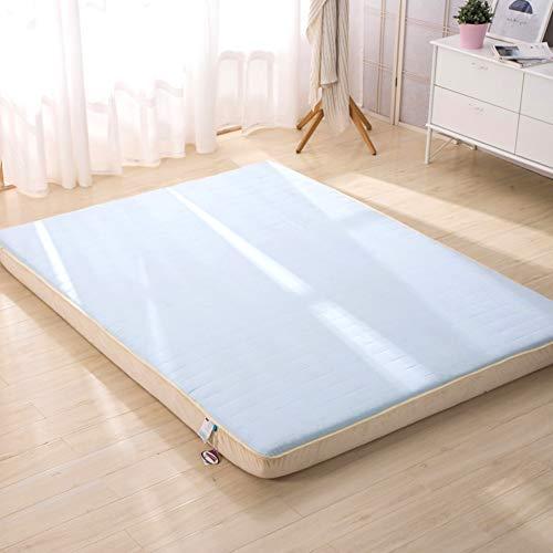mory-Schaum Matratzenauflage, Baumwolle Gepolstert Twin Size Bodenmatratze Japaner Bett Roll Dick Nicht-Slip Tatamimatte-a 90x190x6cm ()