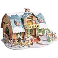 YeahiBaby Adorno de Navidad 3D Casas Puzzle de Casas de Navidad Miniatura de Navidad Decoraciones de Mesa de Navidad