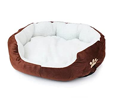 CAOLATOR 1X Shape Dimple Fleece Nesting Dog Cave Bed Pet Cat Bed for Cats and Small Dogs 1PC