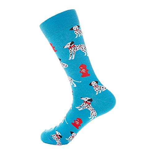 Italily donna colorato tubo socks uomini calze di cotone tendenza cane tempo libero calzini stampa calzini divertente medio sport calzini donne animal calze stampato unisex calzini