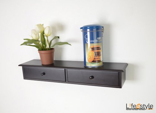 Two drawer wall mount cabinet shelf