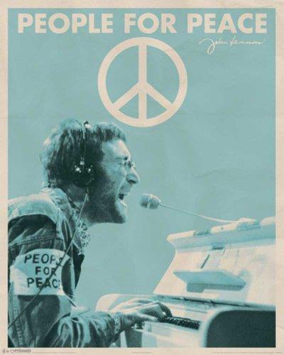 Empire 522436 - Póster de John Lennon con mensaje en inglés People For Peace (40 x 50 cm)