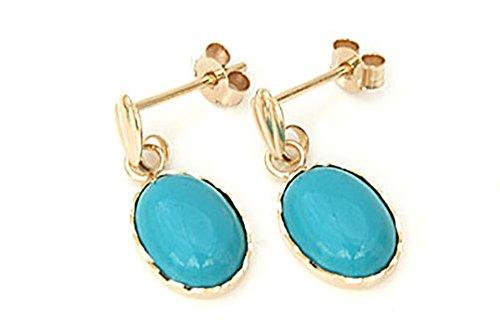 or-9ct-boucles-doreilles-pendantes-femme-turquoise-ovale