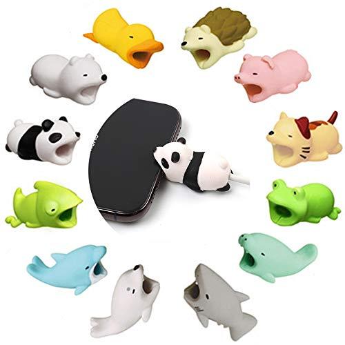 Telefon Protector (Kalolary 12 Pack Kabel Biss schützt, Kabel Schnur Verschiedene Tier Kabel Protectors Kabel Kämme Zubehör Telefon Kabel schützt Mobile Phone Accessories)