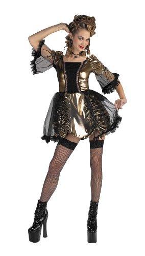 Dg1943T Marie Antoinette Teen Kleid mit Metallic-Rock passend bis Größe 9