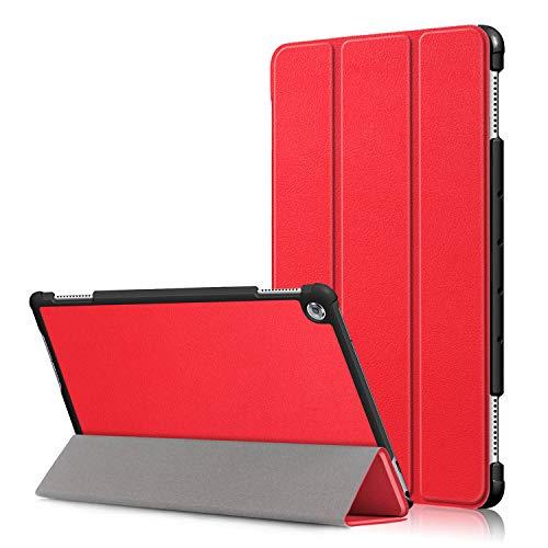 Acelive Huawei M5 Lite Hülle, PU Leder Flip Schutzhülle mit Auto Schlaf/Wach Funktion Case Tasche mit Ständerfunktion für Huawei MediaPad M5 Lite 10 10.1 Zoll 2018 (21) - 21-zoll-tablet