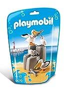 Ce sachet permettra de compléter l'aquarium Playmobil référence 9060. Comprend deux adultes, 2 bébés, un rocher et 3 poissons.