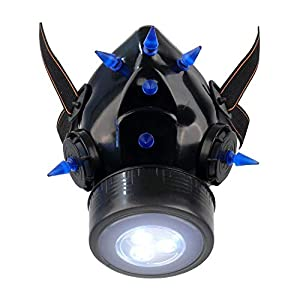 MB-Müller 87323-004-000 - Máscara de gas con pinchos UV y luz LED, unisex, color beige