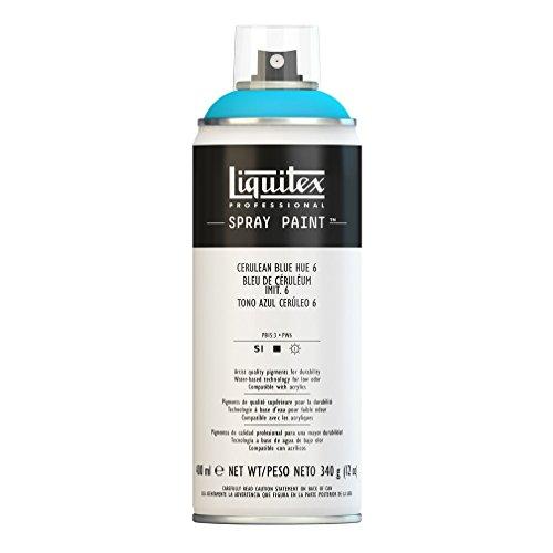 Liquitex Professional - Acrílico en spray, 400ml, tono azul ceruleo 6