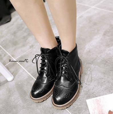 &ZHOU Bottes d'automne et d'hiver courtes bottes femmes adultes Martin bottes Chevalier bottes a17 black velvet