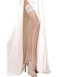 Unbekannt - Bas autofixants - Femme blanc Weiß