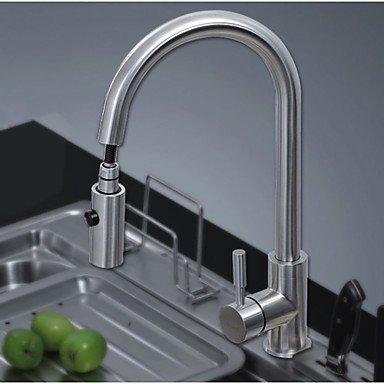 Küchenarmaturen Küchenarmatur Zeitgenössisch Mit ausziehbarer Brause Edelstahl Nickel