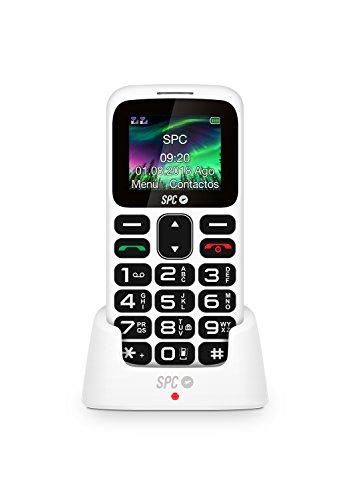 SPC Symphony teléfono móvil bluetooth con Dual Sim con letras y números grandes y 5 números SOS