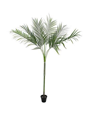 artplants Set 'Künstliche Betelpalme + Gratis UV Schutz Spray' - Deko Areka Palme Kylie, wetterfest, grün, 180 cm