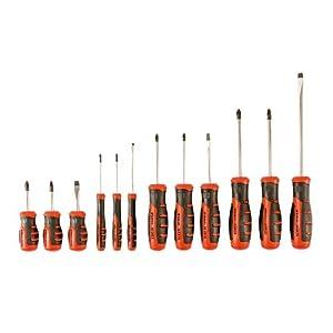 41MoM2fdGqL. SS300  - BLACK+DECKER BDHT0-66451 - Juego de 12 destornilladores con punta magnética
