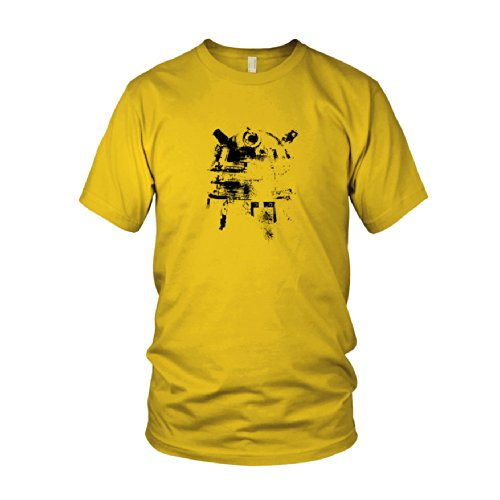 Dalek Splash - Herren T-Shirt Gelb