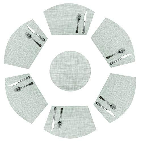 SHACOS Manteles Individuales Set 7 manteles PVC Antideslizante