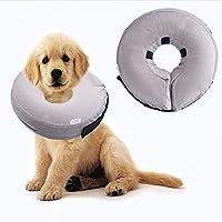 Defrsk Collar Hinchable para Perro, cómodo Inflable protección de Mascotas Cubierta Collar de protección Lavable para Golden Retriever Borde Collies Schnauzers etc.