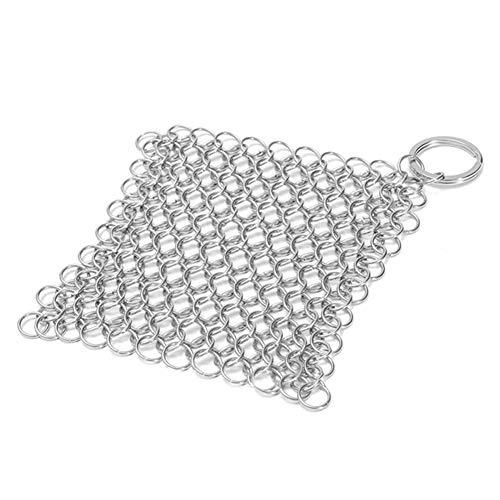 Schrubber Ring Kochgeschirr Pfannenbürste Küchenwerkzeug Gusseisen Edelstahl 10 x 10 cm Reiniger Ketten (1 Stück)