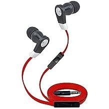 Super elevata trasparenza 3.5mm stereo auricolari/cuffie per Alcatel A7XL/Idol 4S/Plus 12/OneTouch Idol 3/4/5/Fierce/GO/Idol x in/A7/Quickflip (nero, rosso, bianco, blu)