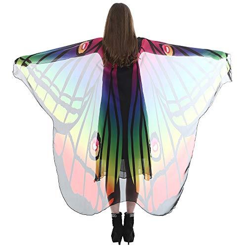 MMOOVV Damen Lange Schmetterlingsflügel Schal weichen Schal, Schal eingewickelt Schal Nymphenkleid