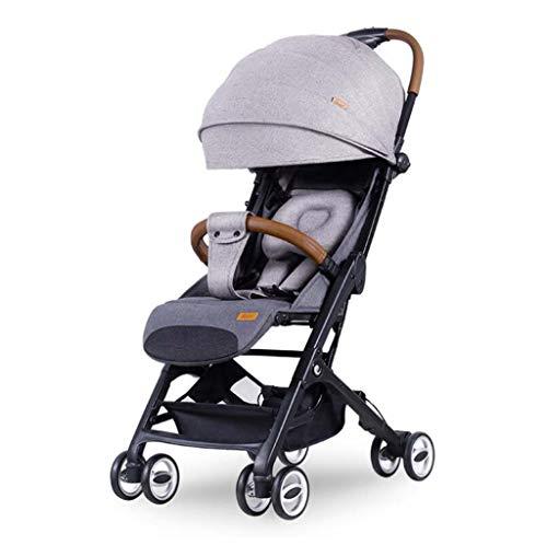 MSSugar Kinderwagen Kinderwagen Kinderwagen Reise Buggy Krippe Warenkorb kann sitzen und Falten Gefaltete Neugeborenen Tasche Kapsel Ultra Light Cart,A -