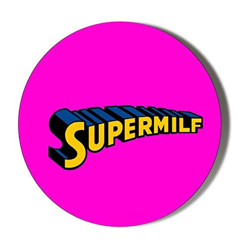 Kühlschrankmagnet, Motiv Insanity Super Milf, 45 mm, Pink