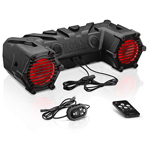 BOSS AUDIO ATV30BRGB Plug & Play Bluetooth Soundsystem ATV UTV Lautsprecher mit 450 Watt integriertem Verstärker - Audio Car Boss