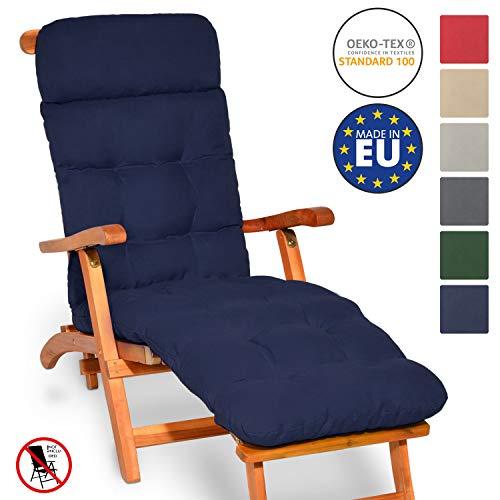 Beautissu Auflage für Deckchair Flair DC 200x50x8 cm Liege-Stuhl Polster-Auflage mit...