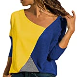 Refill Blusen & Tuniken für Damen, T-Shirts für Damen,Damen V Ausschnitt Kurzarm/Langarm Sommer...