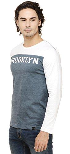 Rigo Solid Slim-Fit T-Shirt Langarm Rundhals Herren Bekleidung -Size Verfügbar Knickentenblau und Weiß