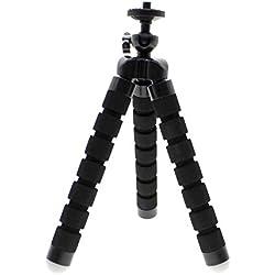 MMRM Poulpe Style Forte Flexible Trépied Monture Support avec Couverture en Mousse pour Téléphone Portable Caméra - Noir