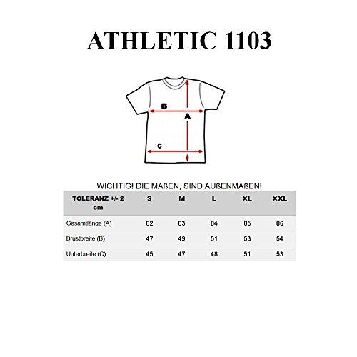 BOLF – T-shirt con maniche corte – Cappuccio – ATHLETIC 1103 – Uomo Anthracite-Rosso