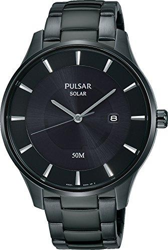 Pulsar Solar Herren-Uhr Edelstahl mit Metallband PX3103X1