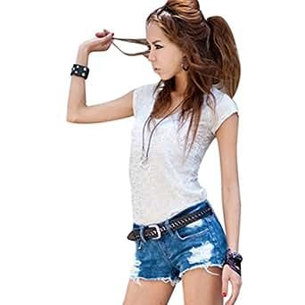 Shoppen Sie Minetome Damen Sexy Mini Shorts Jeans Mädchen