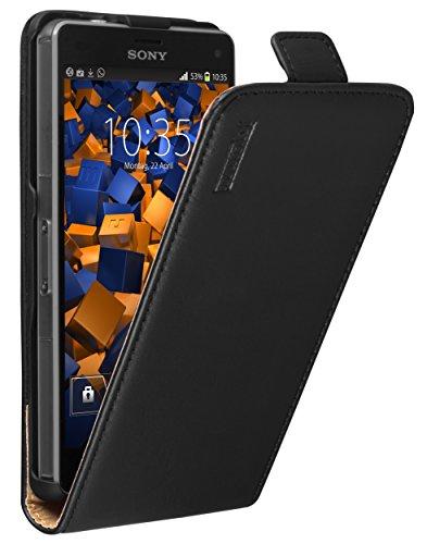mumbi PREMIUM Leder Flip Case für Sony Xperia Z3 Compact Tasche