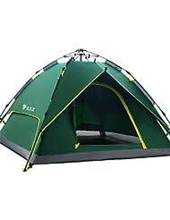 HILLMAN Tente de Camping Ouverture Automatique 3-4 Personnes Multifonction Pliante Etanche Sac de Transport