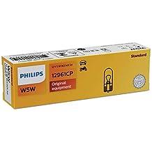 Pack de 10bombillas Dashboard Licencia Luces de posición 12961CP señalización e iluminación interior convencional de Philips