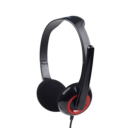 Gembird MHS-002 Casque avec Microphone Réglable/Casque Stéréo pour PC, Ordinateur Portable, Skype/iCHOOSE